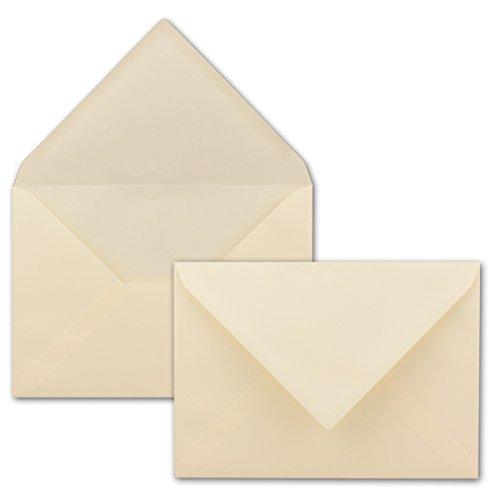 Briefumschläge in Creme mit Gerippter Struktur - 50 Stück - DIN C5 Format 16,2 x 22,9 cm - Mit Strukturprägung - Nassklebung - Gustav NEUSER