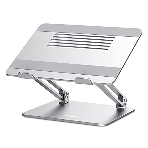"BoYata Soporte Portátil, Soporte Ergonómico Ajustable de Aluminio para Computadora Portátil Laptop Stand Compatible con MacBook Pro, Computadoras Portátiles de 10-17 "" Plateado"