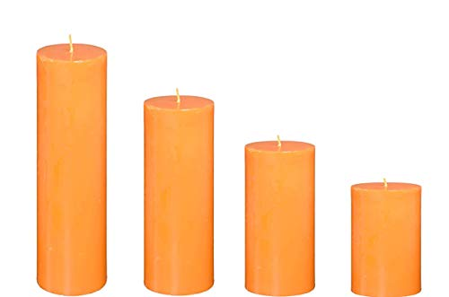 Spiritual World Highly Fragranced Peach Scented Aromatic Pillar Candles Home Decorative Long Burning Aromatherapy Christmas Candles Gift Set