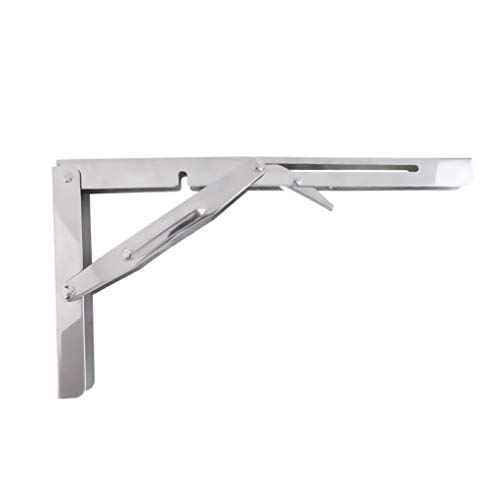 304 Stainless Steel Folding Shelf Bench Table Folding Shelf Bracket -550Lbs Folding Table Wall Mounted Boat/Yacht Accessories