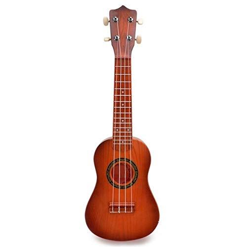 PNLD Ukulele Musikinstrumente neues Jahr-Geschenk for Kinder 21 Zoll Kunststoff Early Education Kind Kleine Gitarre Spielzeug Lernen Anfänger (Farbe : Imitation Rosewood)