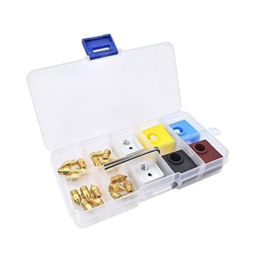 Accessori per stampanti 3D Ugelli MK8/E3D V6 e kit di manicotti in silicone per blocco riscaldante con custodia per stampante 3D CR-10 (Color : MK)