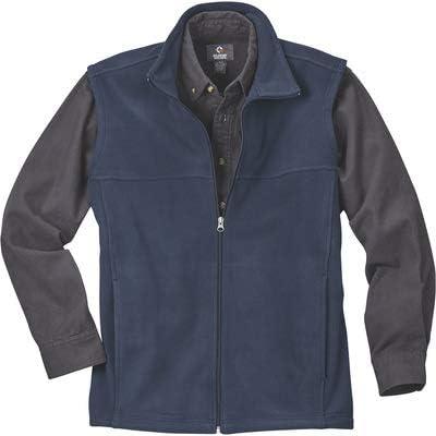 Gravel Gear Men's Zip-up Fleece Vest - Navy, 2XL
