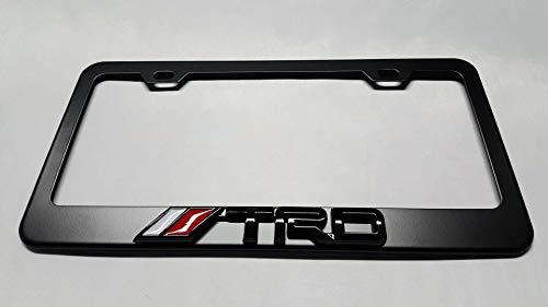 2X  Stainless Steel 4 Runner Black License Plate Frame Holder Screw  For Toyota