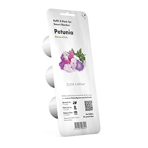 Emsa M52614 Click & Grow Substratkapsel Petunien, Nachfüllpackung für Smart Garden, 3er-Set