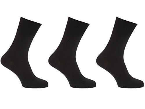 HDUK Mens Socks Herren Socken 39-45 Gr. 39-45, schwarz