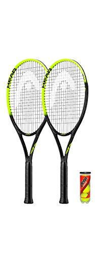 HEAD Tour Pro Nano Titanium - Raqueta de tenis (2 fundas protectoras y 3 pelotas de tenis