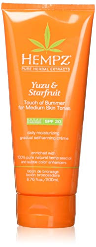 top 10 hempz tanning lotion Hempz Yuzu & Starfruit Touch Of Summer Gradual Self Tanning Moisturizer, 6.76 oz, 6.76 oz