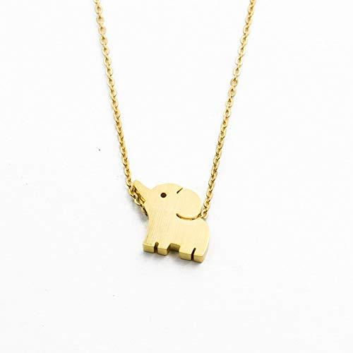 Halskette FyaWTM, Schmuck Choker Glück Amulett Thai Elefant Halsketten Anhänger Für Frauen Schmuck Edelstahl Rose Gold Tier Choker Bester Freund Geschenk