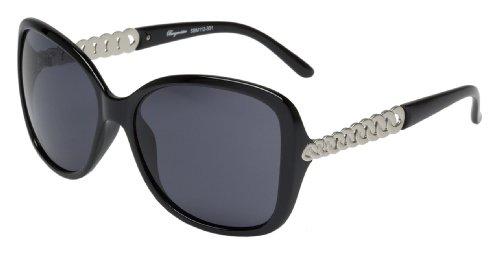Schöne Marken Sonnenbrille für Damen von Burgmeister mit 100% UV Schutz | Sonnenbrille mit stabiler Polycarbonatfassung, hochwertigem Brillenetui, Brillenbeutel und 2 Jahren Garantie | SBM112-331