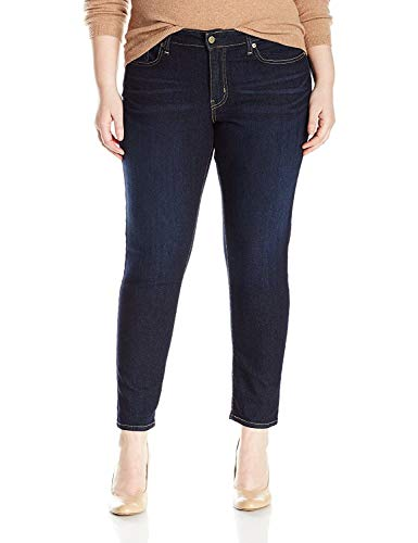 Signature by Levi Strauss & Co Women's Plus-Size Skinny Jeans, Stormy Sky, 18 Short
