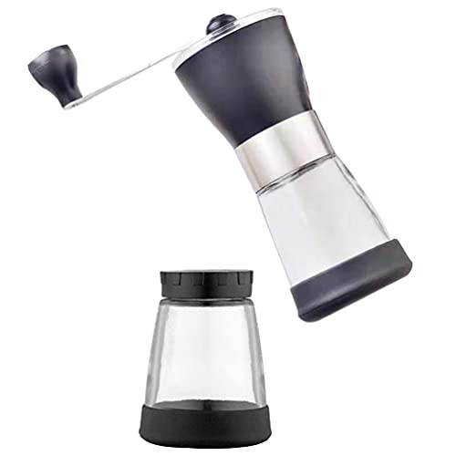 Artibetter Molinillo de Grano de Café de Acero Inoxidable Molinillo de Café Manual Manual Molinillo de Grano de Rebabas