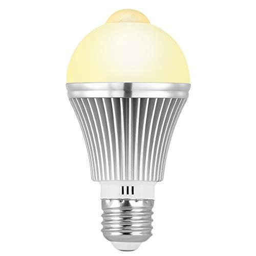 LED電球 人感センサー E26 Vorally 人感センサー付きLED電球 人感センサー電球 7W 50W形相当 明暗センサー 電球色 自動点灯消灯 省エネ 2700K 650lm 高輝度 明るい 赤外線センサーライト 室内 廊下/玄関/脱衣所/階段 日