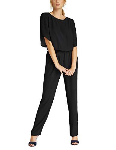APART eleganter Damen Overall, Jumpsuit mit Gummibund in der Taille, auch für Festliche Anlässe, schmaler Schnitt