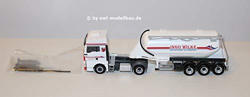 Herpa 308403 Man TGX XLX Silo oplegger Ingo Wilke model set