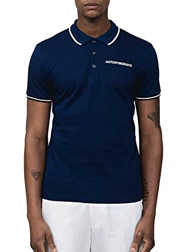 Antony Morato Polo Piquet Azul Hombre