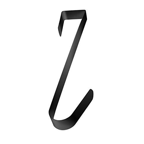 """Super Z Outlet Metal Home Over The Door Wreath Hanger for Bathroom, Bedroom, Coats, Towels (15"""") (Black)"""