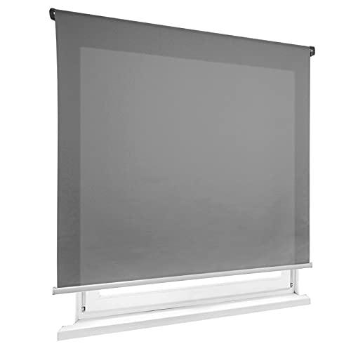 HOME MERCURY - Estor Enrollable translúcido Liso (135x180 cm, Gris)