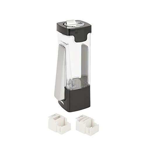 Honey-Can-Do KCH-06071 Zevro Indispensable Sugar 'N More Dispenser, Plastica, Nero/Cromato