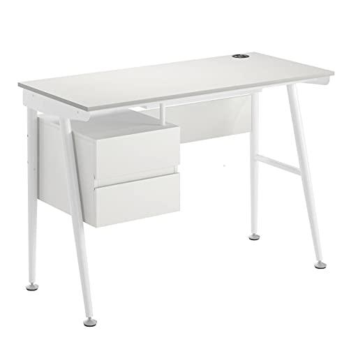 Ofichairs Mesa de Escritorio HomePro Mesa para odenador cajones lacada Color Blanco