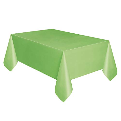 53.9 x 107.8 inch Wegwerp rechthoek Plastic tafelkleden voor picknick, verjaardagsfeesten, Camping, Kerstfeesten 137cmx274cm Groen