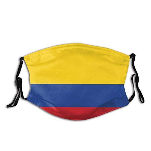 Gesicht Mas_ke Flagge Kolumbien Vektor Genaue Abmessungen Elemants Sturmhaube Mund Bandanas Camping Motorrad Running Neck Gamasche