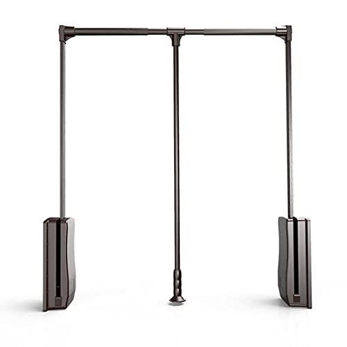 HYDL Kleiderlift Wardrobe Lift Ausziehbare Kleiderstange, Kleiderstange, ausziehbar, für Kleiderschrank, Schlafzimmer,#1: Approx. 55~66cm