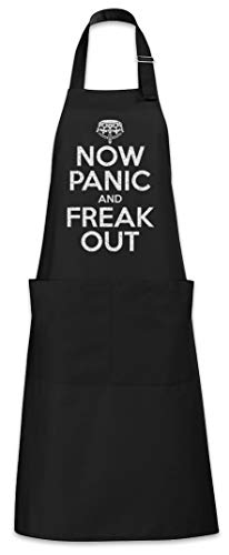 Urban Backwoods Now Panic And Freak Out Tablier De Cuisine Cuisson Gril BBQ Barbecue