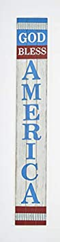 Worth Imports 29  Tall Distressed Wood American Sign Red White Blue
