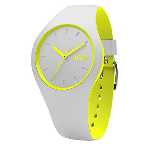 Ice-Watch - ICE duo Grey Yellow - Graue Herren/Unisexuhr mit Silikonarmband - 001500 (Medium)
