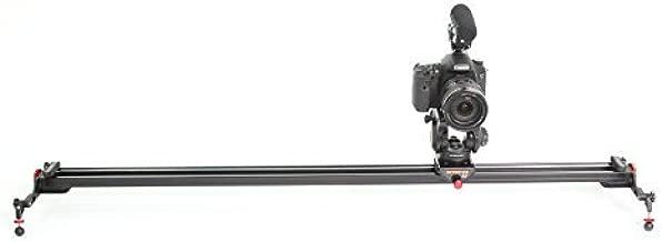 Konova Camera Slider Dolly K7 150cm (59.1 Inch) Track Aluminum Solid Rail Roller Bearing for Smooth Slide for Camera, Gopro, Mobile Phone, DSLR, ENG Payloads up to 77bs (35kg) with Bag