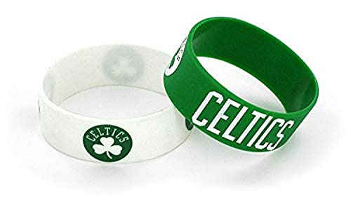NBA Boston Celtics Silicone Rubber Bracelet, 2-Pack