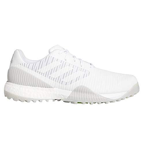 mejores Zapatos de golf para hombre adidas CodeChaos Sport - Zapatillas de golf (blanco y gris/verde señal, talla 10)