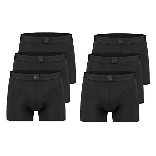 SITZTGUT Boxershort für Herren (6er Pack) Anti Loch Garantie (Größe XL) Bio Polish Baumwolle
