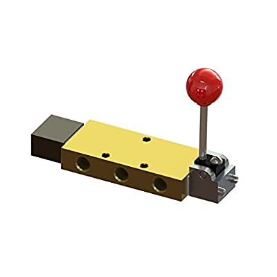 """Air-Mite 4-Way, Hand Ball, 3 Position Control Valve with 1/2"""" Ports by Air-Mite, Inc."""