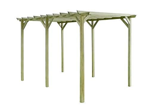 Pissente de pérgola para jardín decorativo de madera, estantería de plantas trepadoras para jardín, patio, patio, terraza, parque o café