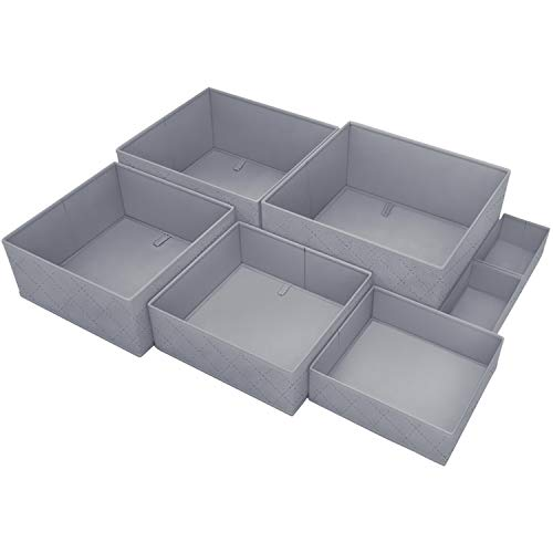 DYD Drawer Organizer 7 Sets Closet Storage Baskets for Clothes Only $10.50 (Retail $29.99)