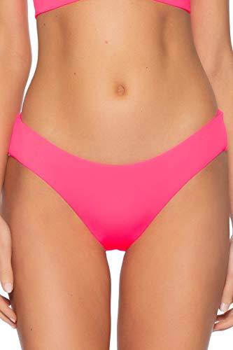 Becca by Rebecca Virtue Women's Color Code Hipster Bikini Bottom Pink Punch XS