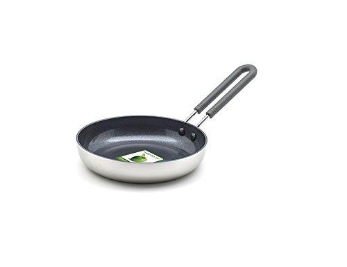 GreenPan Minipfanne Keramik Beschichtet, Toxinfreies Kochen, Ofen- und Spülmaschinengeeignet - 14 cm, Silber