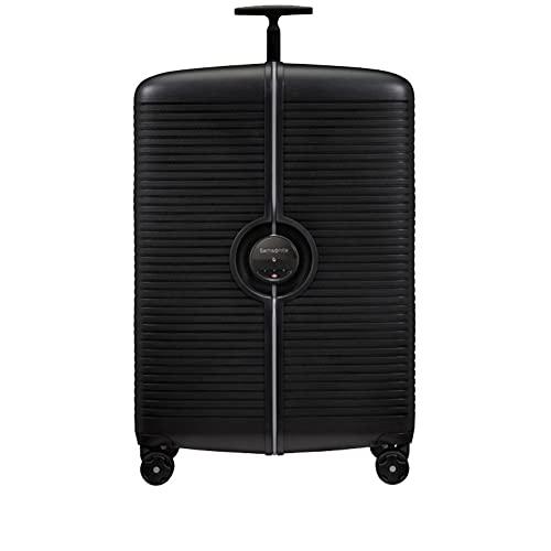 Ibon Samsonite - Maleta rígida de 77 cm con 4 ruedas, grande y ampliable, color negro