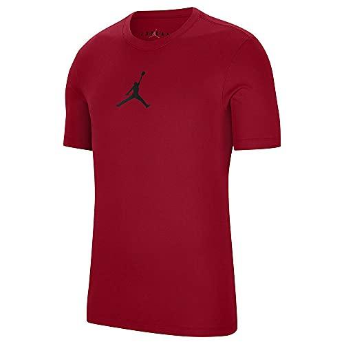 NIKE M J Jumpman Dry Fit T-Shirt, Gym Red/Black, XL para Hombre