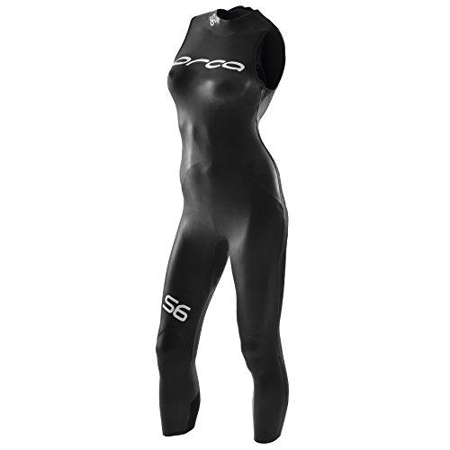 Orca S6 zonder mouwen dames neopreen pak, zwart, M