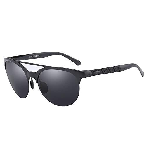 Sebasty UV400 Negro Aluminio Magnesio Gafas De Sol Polarizador Moda Gafas De Sol Hombres Y Mujeres Conducir Conducción