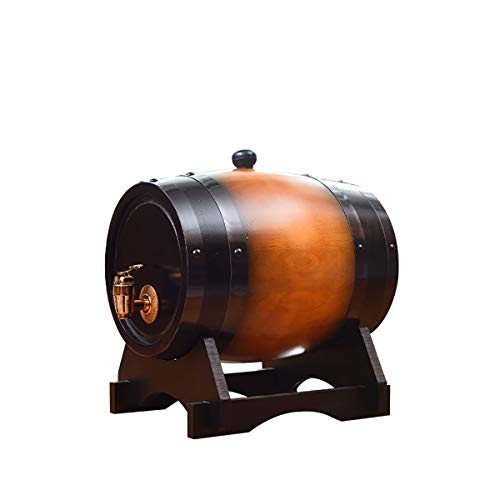 XER 5 Liter Whiskey Barrel Dispenser Hout Eiken Wijnvat Decanter voor het serveren tafel Home Accent Display Opslag van Geesten