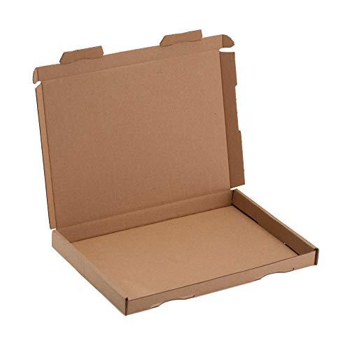 1000 cajas de cartón grandes de 230 x 160 x 20 mm, DIN A5, embalaje de cartón ondulado