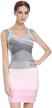 King's Love Women's Celebrity Bandage Bodycon Dress Strap Party Pencil Dress