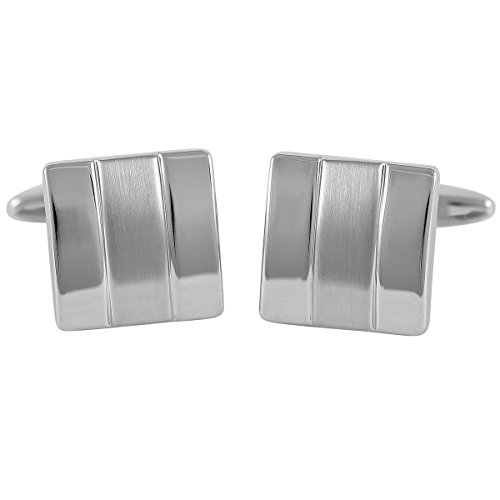 Cufflinks / Cuff buttons LINDENMANN, silvery, with gift box, 10082