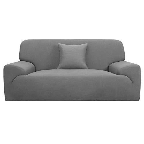 YeVhear - Funda de sofá extensible para sofá o sofá - Funda de poliéster elástico con una funda de almohada (gris, muy grande)