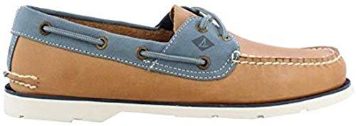 Sperry Men's, Leeward Boat Shoe TAN Blue POPCOLLAR 10.5 M