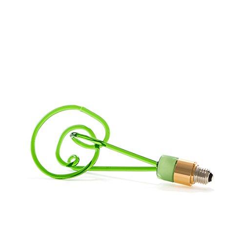SELETTI 'Ampoule en Verre à LED e27 220 V 2 W Twist Lamp H. cm.30 – Vert